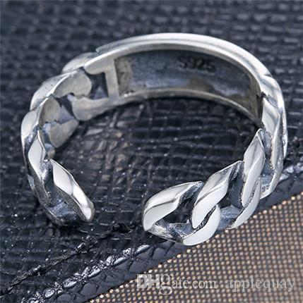 925 серебряных ювелирные колец для женщин мужчин Таиланда серебра Европейских марочных открытым переплетение моды подарки партия хвоста кольцо мода 2016 6шта