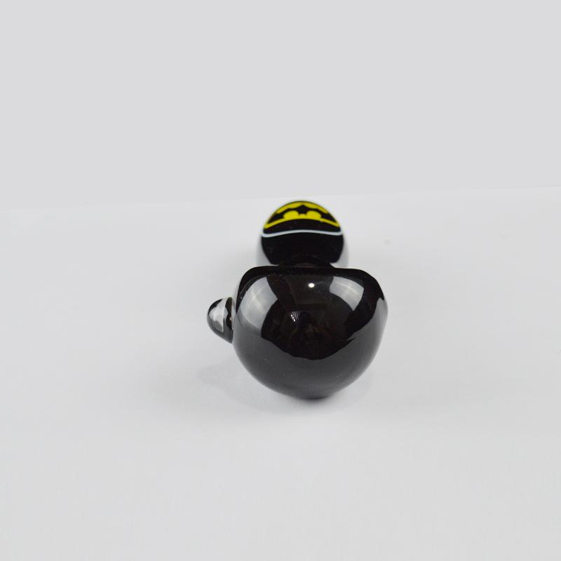 Black Hand Glass Pipes Oil Burner Pipes for Smoking Bat High Society Custom Logo Tobacco Spoon Pipes Thick Glass Hookahs Sale
