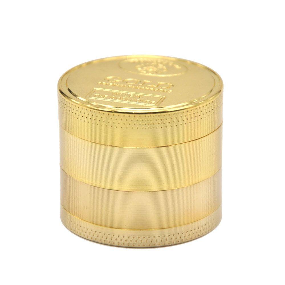 50 MM 3 Katmanlı / 4 Katmanlı ALTıN Çinko Alaşım Metal Ot Değirmeni Baharat Tütün Öğütücü Baharat Kırıcı El Muller