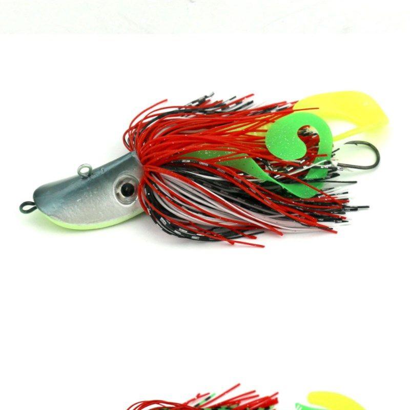 Blue Pink Gray Green Big Jig Heads Hooks Beard Guy Fishing Baits 91g Lifelike Fishing Lures Suits Maggot Worms Soft Baits
