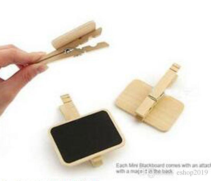 2016 neue Schöne Haushalt Holz Clip MINI Tafel Holz Clip Kleine Klemmen Message Board kostenloser versand