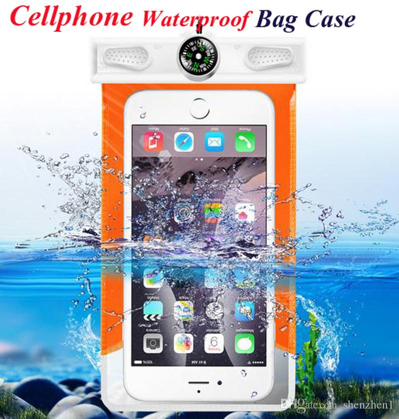 Waterproof iphone 7 6 case Universal Pouch Bag Case Diving case For samsung S7 edge NOTE 7 cellphone waterproof bag case SCA183