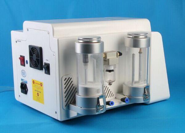 Alta calidad 2 en 1 microdermabrasión de cristal y microdermabrasión de diamante Máquina de pelado de diamantes Peel Peel Microdermabrasion para facial