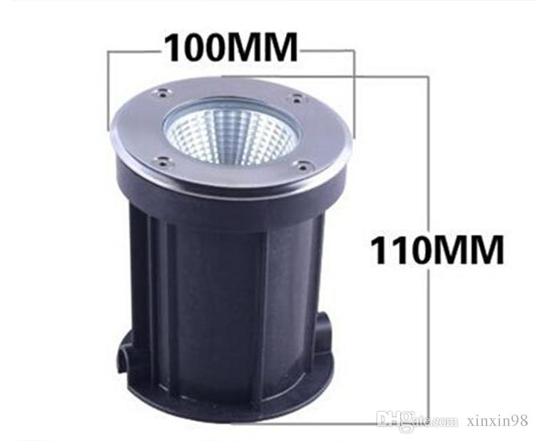New 10W COB LED lumière souterraine lumière jardin AC85-265V Buried lampe IP68 refroidir blanc chaud blanc oxydantes de surface extérieure lampe led