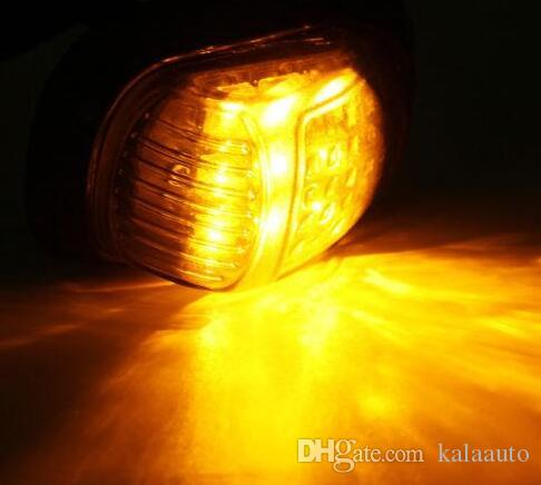 Moto 12V encastré 9 LED clignotant clignotant lampe orange