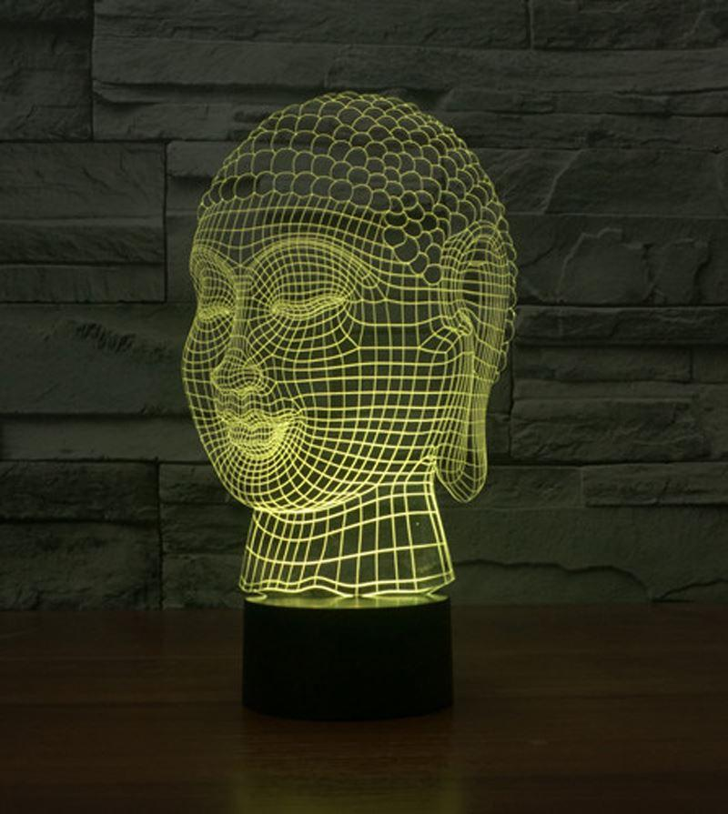 2018 novelty buddha head 3d illusion led night light 7 light colors 2018 novelty buddha head 3d illusion led night light 7 light colors table lamp for party children bedroom lamp baby toy gift from home2010garden aloadofball Images