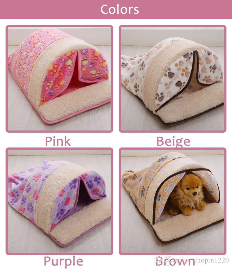 Mechanical Wash Standard Pet Kennels Dog Tent with Curtain Guinea Pig Cage MATS Cat Nest Summer Air-Conditioning Mat Size M L