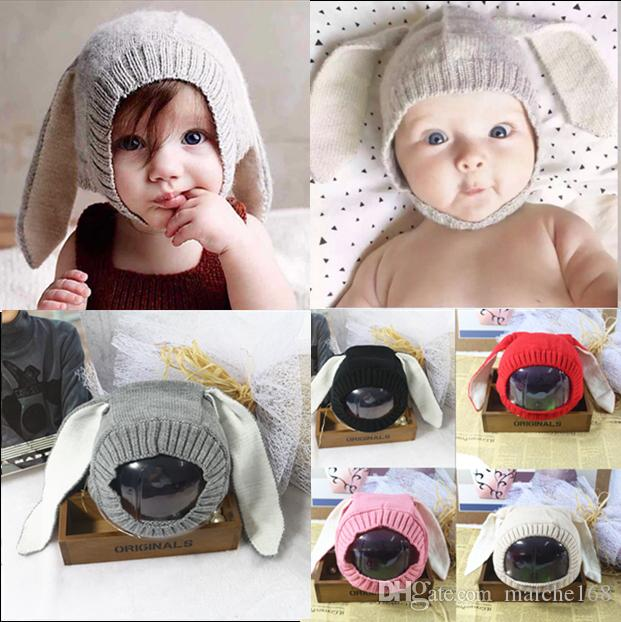 e4f1c7777634d 2019 Korean Baby Cute Rabbit Ears Knit Hat Baby Hat Boys And Girls Warm  Winter Hat From Maiche168