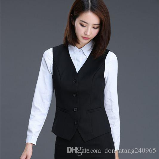 947aa62b58 2019 Women Elegant OL Waistcoat Vest Gilet V Neck Business Career Ladies  Tops Office Formal Work Wear Outerwear From Donnatang240965, $12.94 |  DHgate.Com