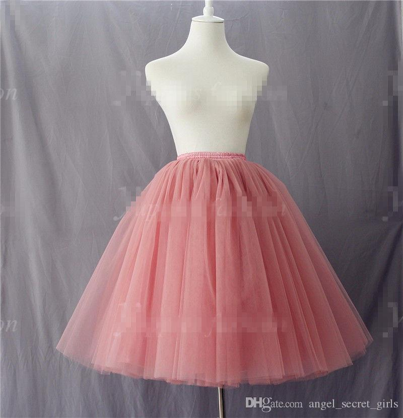 7 Camada de renda Longo Tule Saia Celebridade Vestido das mulheres Adulto Tutu Vestido de Baile saia bailarina saia elegante lindo vestido saia