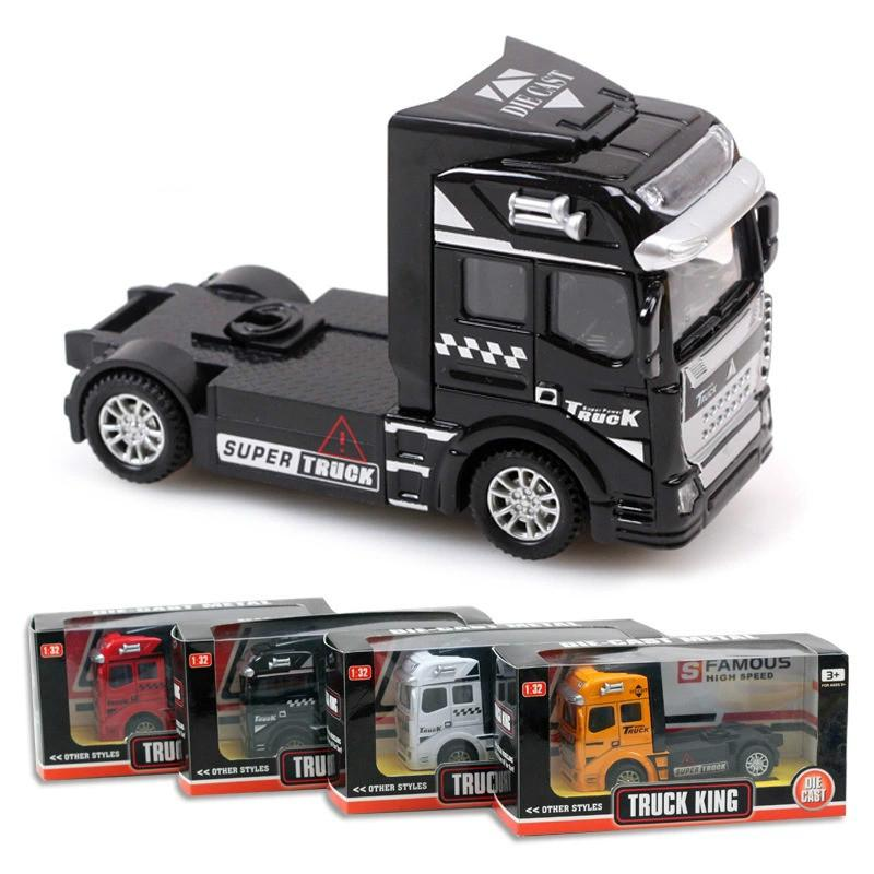 2017 wholesale hot sale kids toys 150 pull back alloy car transporter truck series model container front diecasts toy vehicles for boys from maihaojian