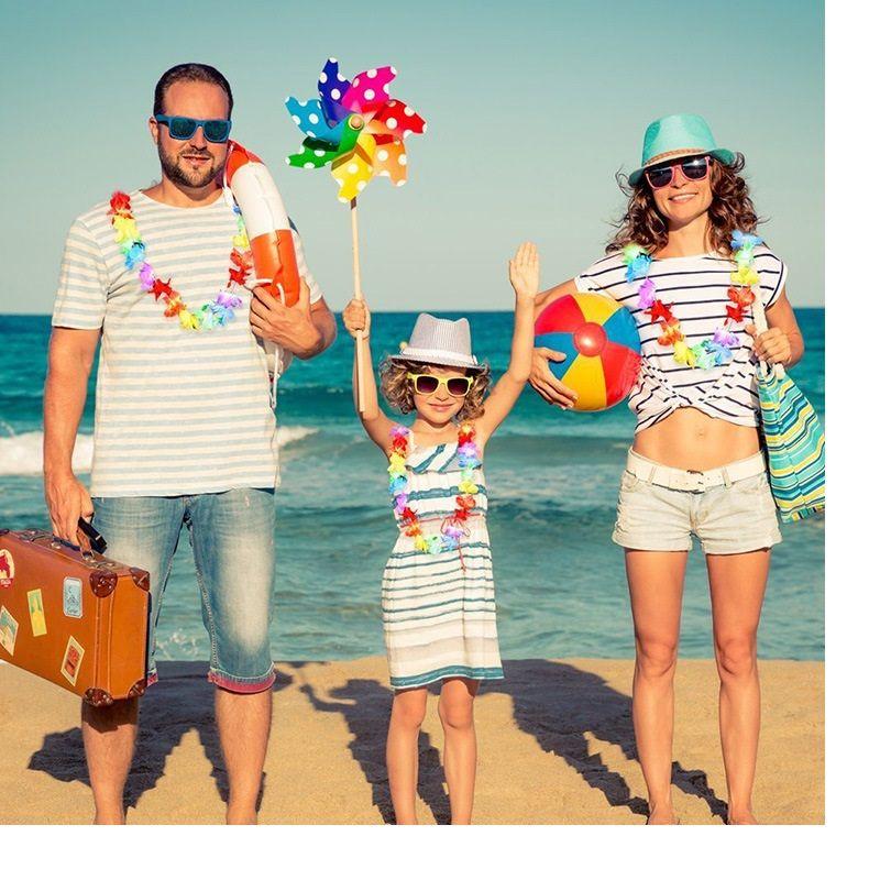 Leis hawaiano Rifornimenti feste Collana di ghirlanda Colourful Fancy Dress Party Hawaii Beach Fun Spedizione gratuita WA1045