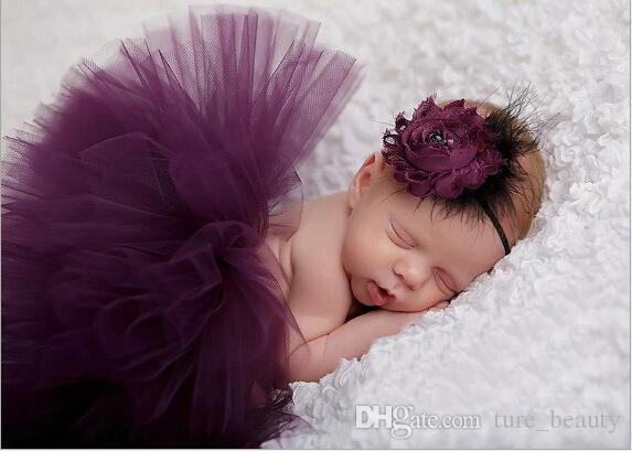 Drop shipping !! Newborn Tutu Clothes Skirt Baby Girls Ball Gown,baby girls bubble skirt + Headbands,Girls Bubble Skirt BN