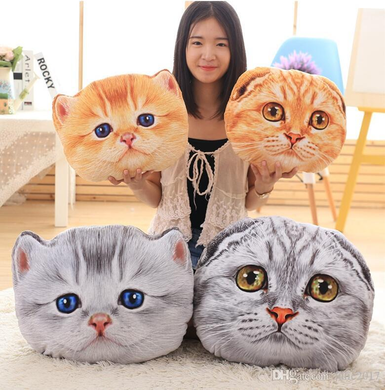 40/50cm Wholesale Cat Plush Toys Expression cat pillow Soft Cushion Stuffed plush kids doll baby birthday gift