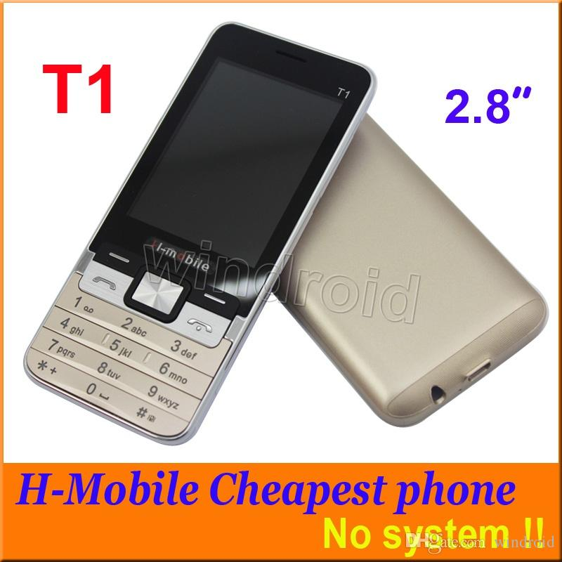 H-Mobile T1 2.8 Inch Cheap Mobile Phone Dual Sim Quad Band 2G GSM Phone Unlocked Back Camera with Flashlight Bluetooth FM MP3