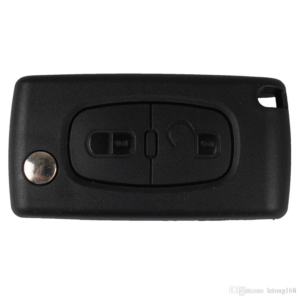 Гарантированный 100% складной ключ автомобиля Shell дистанционного брелок чехол для PEUGEOT 207 307 307S 308 407 607 Бесплатная доставка