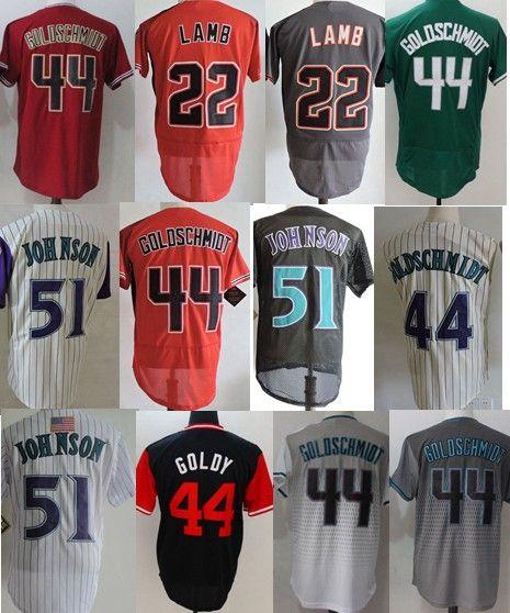 d067ce1ff7e ... cool base mlb jersey d81d6 43621; free shipping men throwback 44 paul  goldschmidt 22 jake lamb 51 randy johnson throwback baseball jerseys