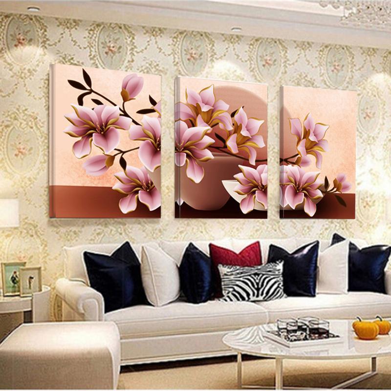 Großhandel Keine Rahmen Orchideen Wand Malerei Blumen Segeltuch ...