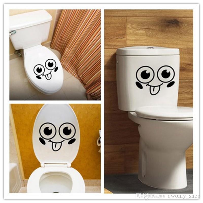 Съемный туалет наклейки на стены милый узор ванная комната туалет наклейки стекло украшения наклейки DIY домашнего декора искусства наклейки