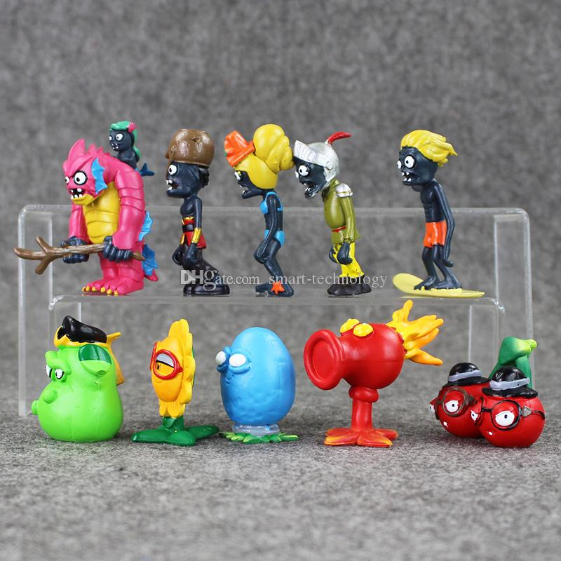 10 Styles 4-7.5cm Plants vs Zombies PVC Action Figure Collectable Model Toy for kids gift EMS