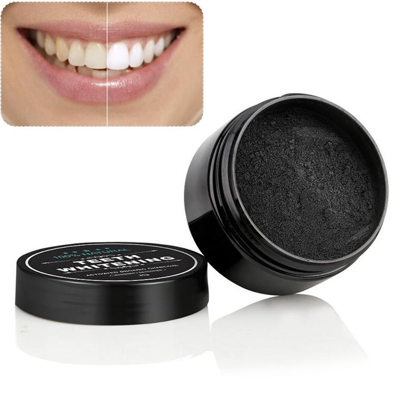 Los dientes de calidad alimentaria polvo de carbón productos blanqueadores de dientes limpieza de los dientes con carbón activado en polvo de carbón Negro