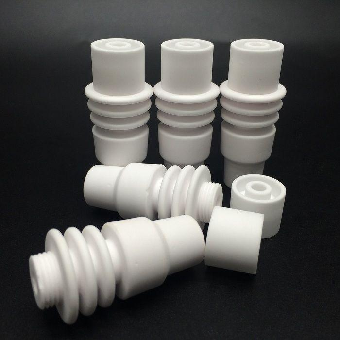 Clavo de cerámica macho de 14 mm y 18 mm 2 en 1 Clavo de cerámica sin hogar apto para bobina de clavo electrónica de 16 mm para tubo de vidrio