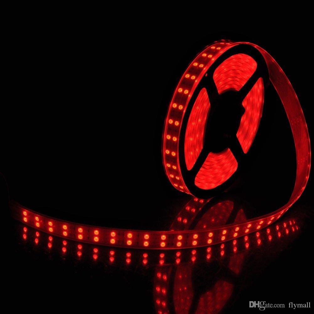 Waterproof Flexible Strips Light LED RGB Strips Double Row 5M 5050SMD 600LEDs RGB LED Strip Light + 44Key IR Remote + 5A Power Supply