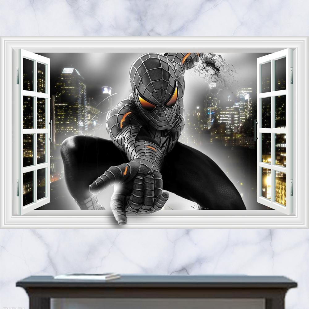 3d generic windows movie spider man black power wall decal decor see larger image