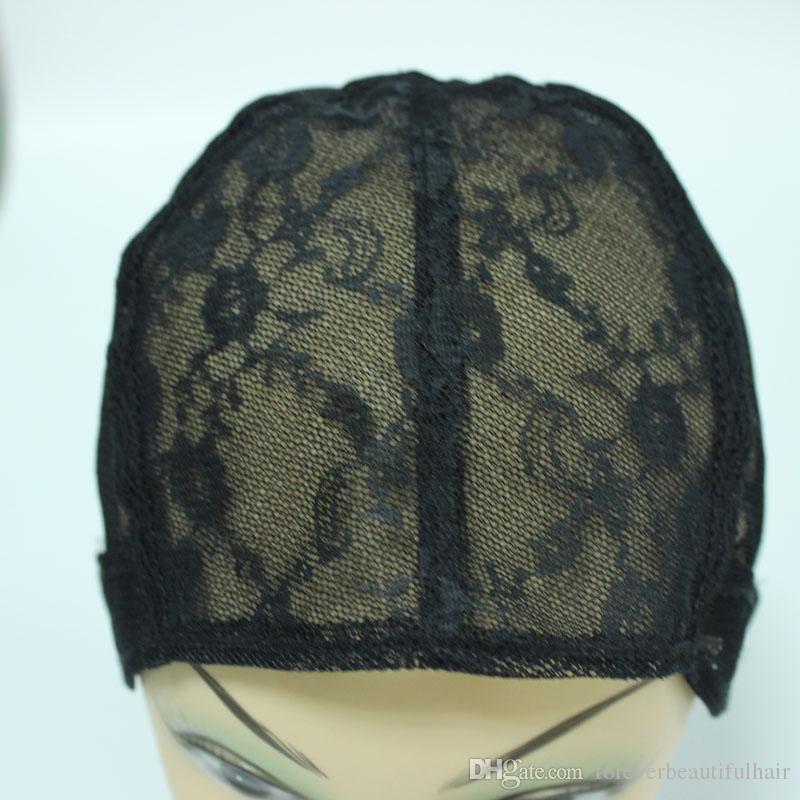 5 ADET Siyah renk peruk Tam kap net Yapmak için Yahudi Bankası peruk kapaklar Tutkalsız dantel Peruk Geri Üzerinde Ayarlanabilir Askı Caps