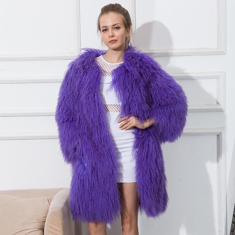 Cnegovik Womens Lamb Fur Coat Tan Sheep Fur Coats Short Sheep Skin ...