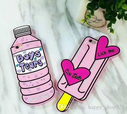 3d Bottle Boy phone case lick me Bottle Boy Tears 3D Silicone cute Ice Cream Phone silicone Case for iPhone 7 5 6 6s plus 6plus Rubber Cover
