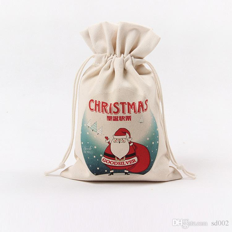 Christmas Theme Bundle Pocket For Many Styles Canvas Drawstring Bag Creative Gift Storage Bags 3 68xx C R