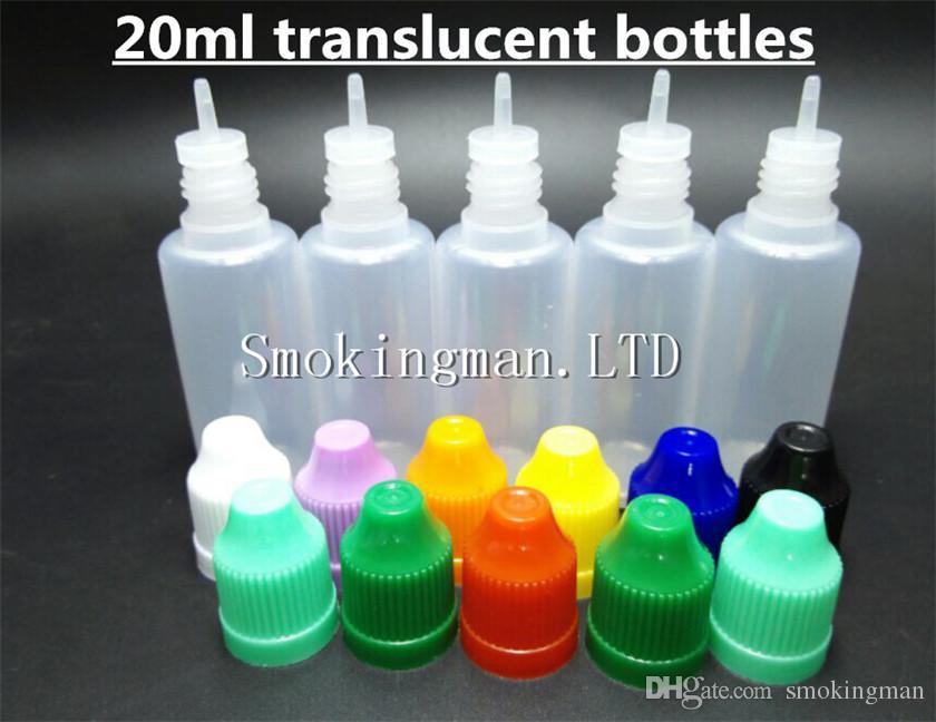 Agulha colorida dos tampões de garrafa Garrafa 5ml 10ml 15ml 20ml Garrafas plásticas do conta-gotas 30ml O CABO das provas da CRIANÇA derruba o PE do LDPE para o líquido do Cig do vapor de E