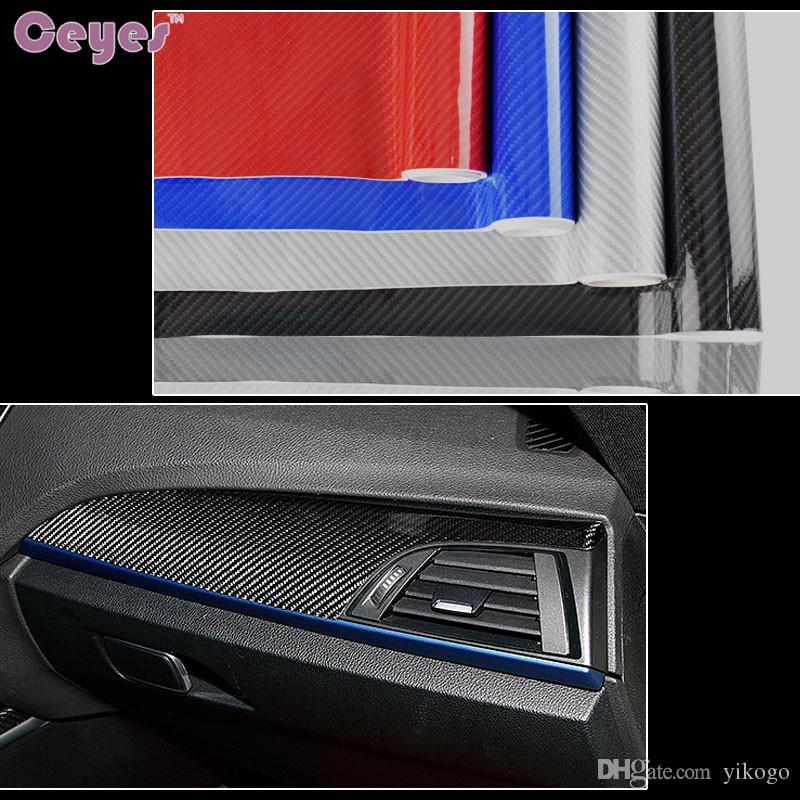 152x30 سنتيمتر 5d ملصقات السيارات ديي ألياف الكربون الفينيل فيلم عالية لامعة الاعوجاج للدراجات اكسسوارات للماء السيارات السيارات التصميم
