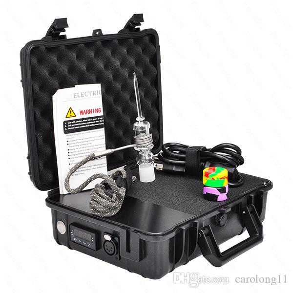 New Pelic Quartz Nail Electric Dab Nail Complete Kit withTemperature Controller 100w for Rig Oil Glass Bongs water pipe