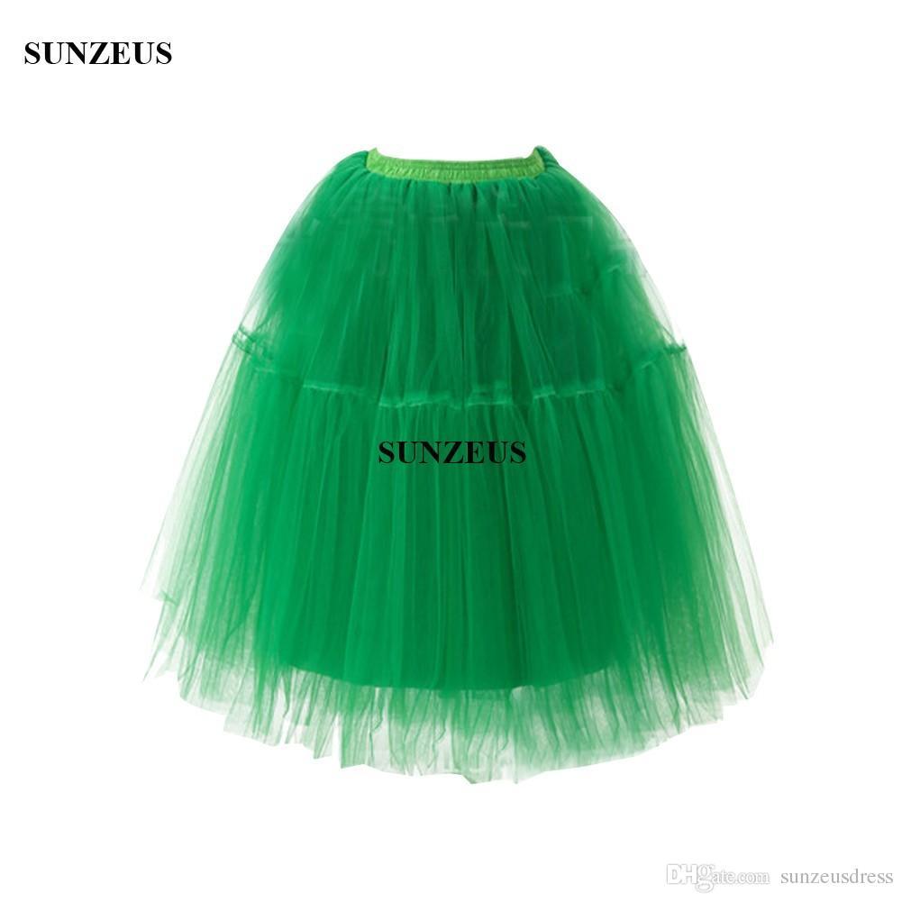 1950 S Vintage Tül Petticoats Diz Boyu Etek Gelinlik Aksesuarları Jüpon Kabarık Etek Saiote Crinolina Sottogonna Sposa