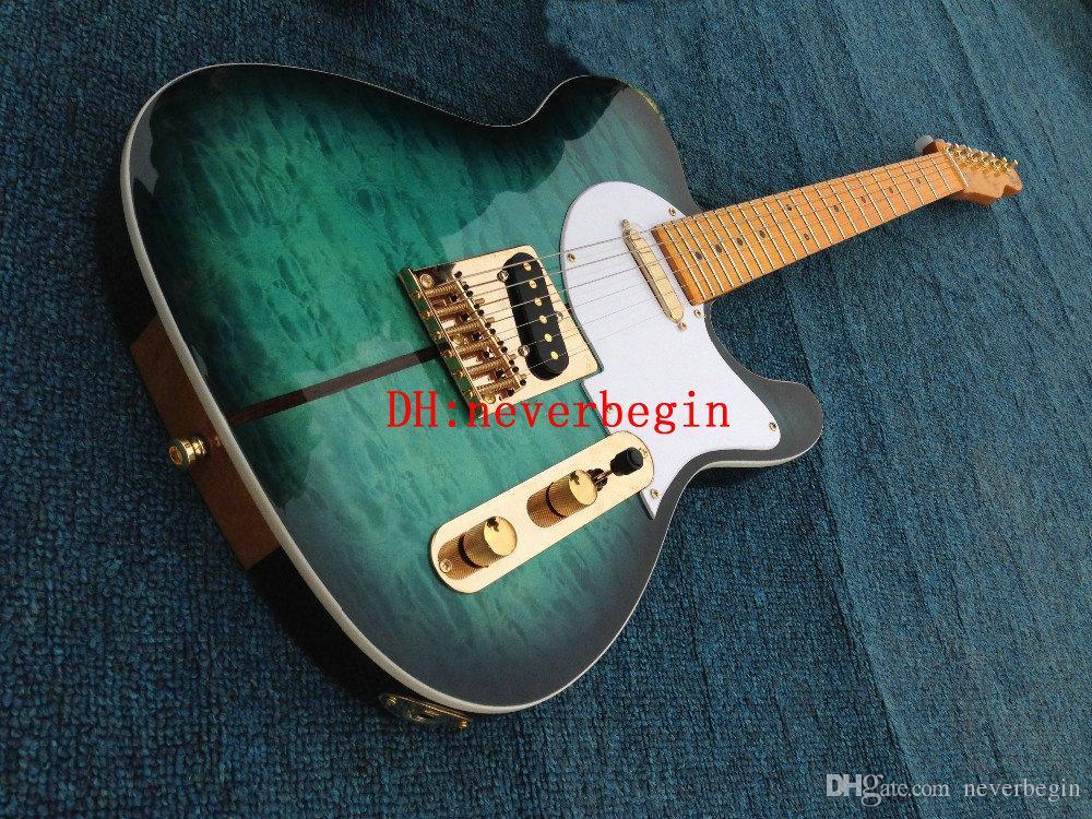 Nuovo arrivo Custom Shop Chitarra elettrica Merle Haggard Signature Tuff Dog Qualità eccellente, SUPER RARO, colore verde Spedizione gratuita