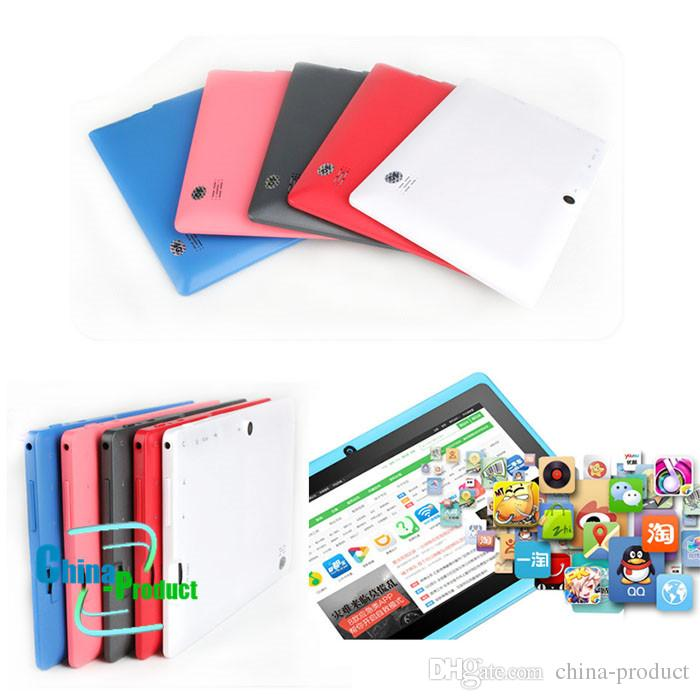 7 inch Q88 kids android tablet PC Android 4.4 3000mAh Battery WiFi Quad Core VS huawei lenovo