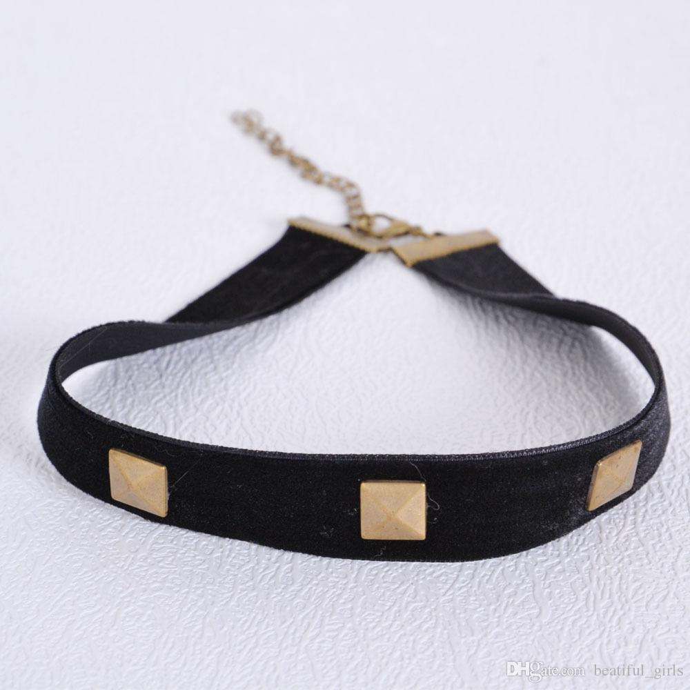 Collier en dentelle à la main de mode simple collier chaud nouvelles dames dentelle noire ruban de velours collier en gros Epacket Gratuit