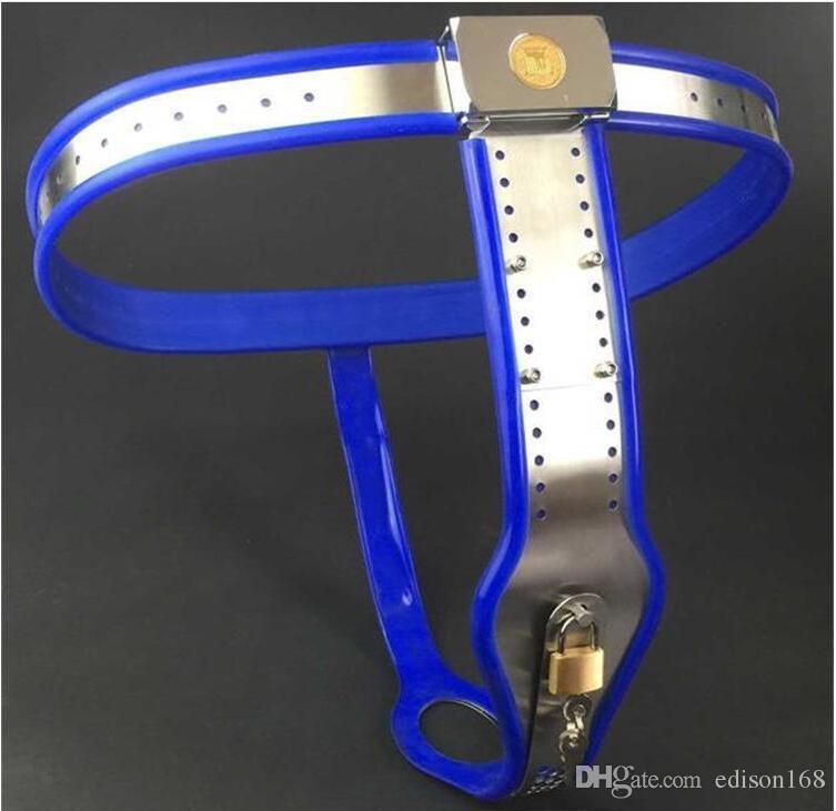 HOT Femelle Entièrement Réglable T-type en acier inoxydable ceinture dispositif de ceinture de chasteté avec prise vaginale empêcher masturbation bouclier BDSM sex toys 4 couleurs
