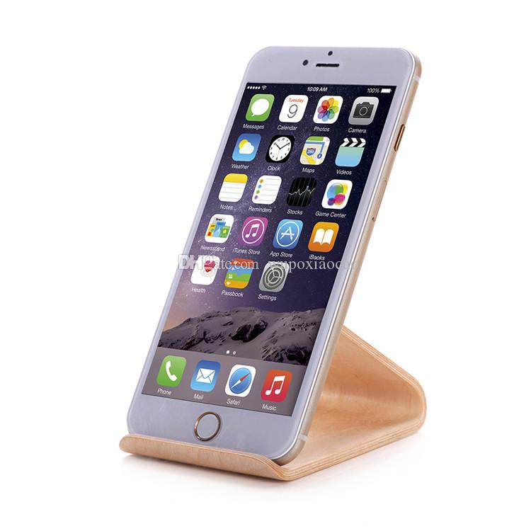 Original SAMDI Wood Holder Stand for iPhone 6 6plus for Samsung Note3 Note4 S4 S5 and all more than 5 inch Mobile Phone