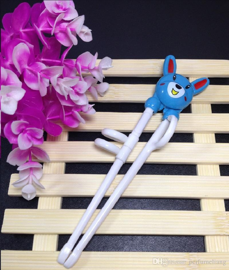 200 unids Nuevo 2016 Lindo Conejo de Dibujos Animados Palillos Aprendizaje Temprano Aprendizaje Entrenamiento Palillos para Niños Palillos Regalo ZA0851