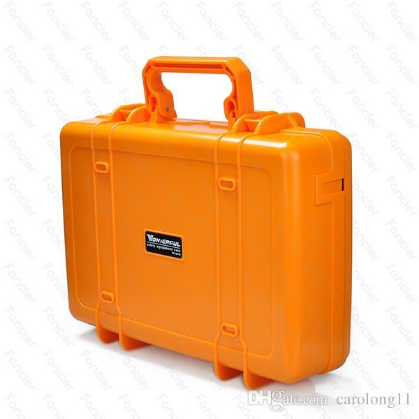 "10""~ 14""Laptop Handle Case Carrying For Ipad Mini Dustproof Waterproof Safety Equipment Instrument Box Moistureproof Locking Camera Laptop"