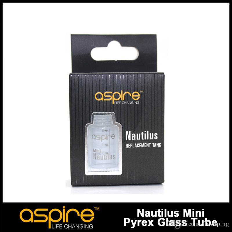 Original Aspire Nautilus Mini repuesto Pyrex Glass aspire nautilus mini tubo de vidrio para mini nautilus tank aspire cleito