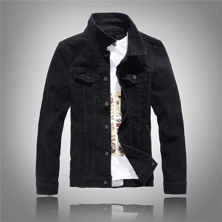 Wholesale 2017 Spring Autumn Mens Fashion Casual Denim Jacket Men