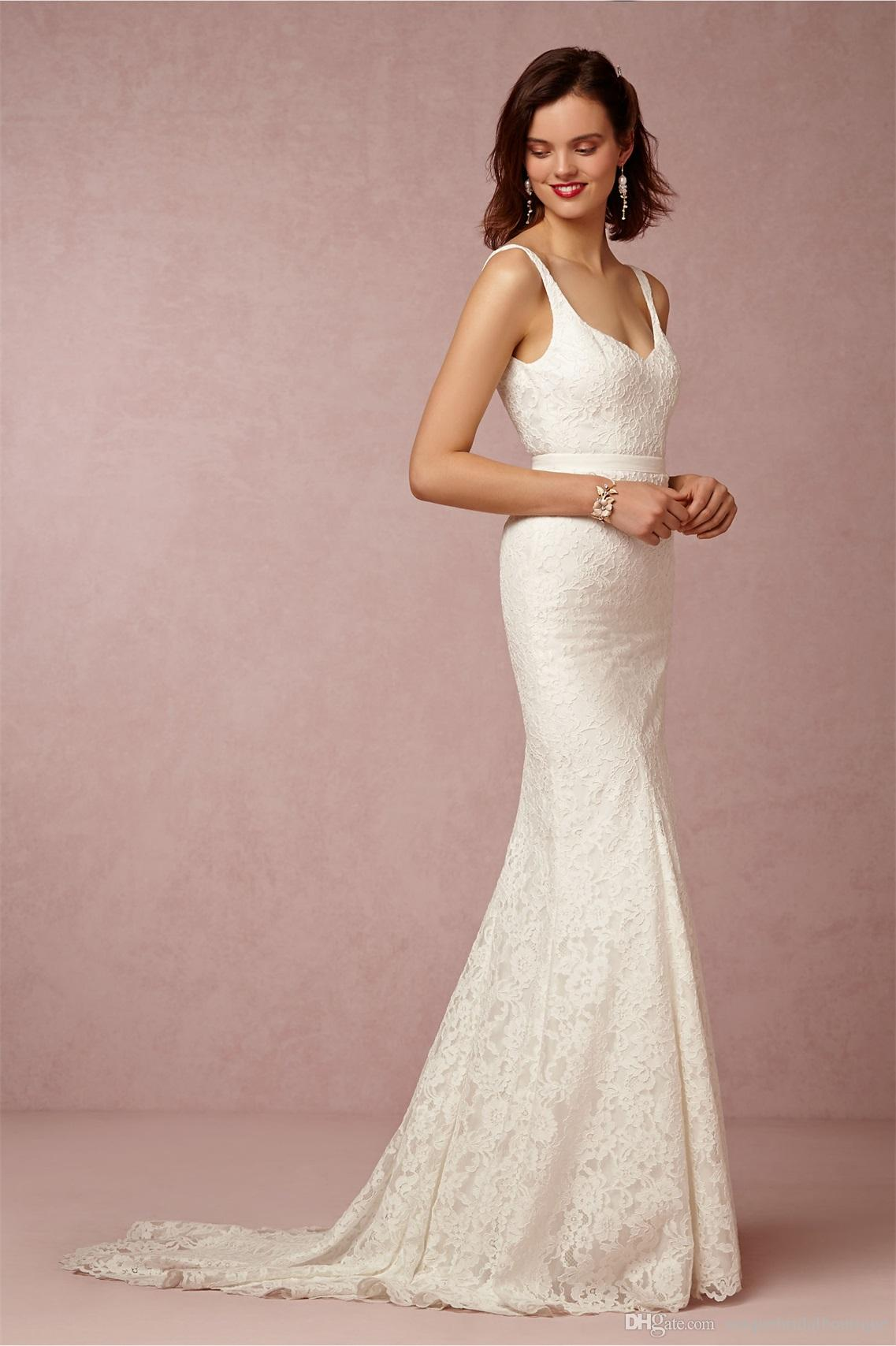 Bhldn 2016 Garden Wedding Dresses With V Neck And Open Back Fully ...