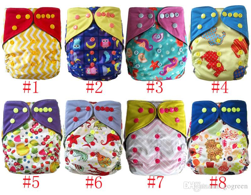 AIO reusable washable Nappies bamboo charcoal double gusset cloth diaper One Size Fit All China Factory