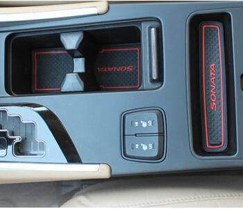 2018 High Quality Gate Slot Pad Rubber Car Cup Mat Non Slip Mat Car  Accessories For Hyundai Sonata 2013 Car Styling From Zai89, $48.85 |  Dhgate.Com