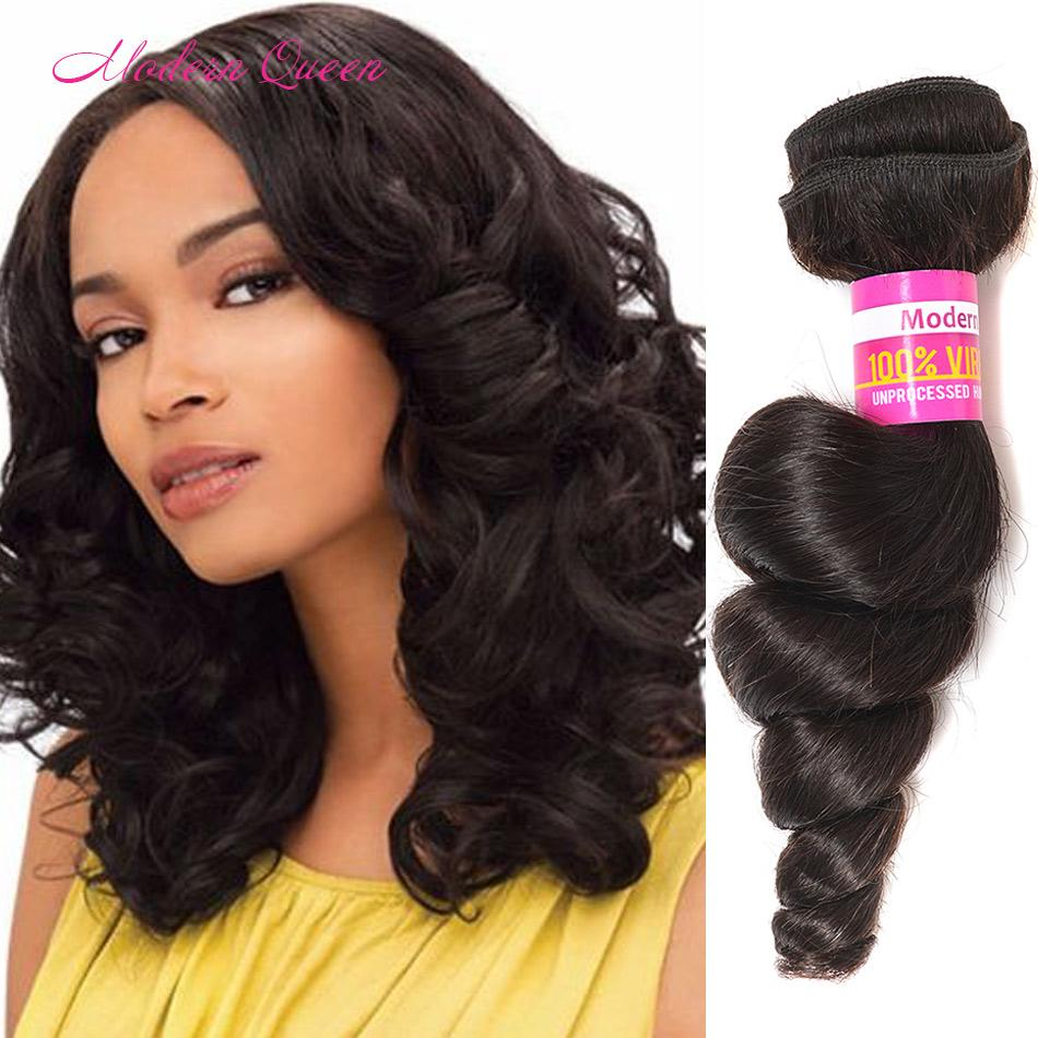 Natural Soft Indian Loose Wave Hair Bundles Modern Queen Products