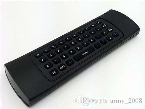 X8 Mini Keyboard 2.4 GHz Wireless Remote Control MX3 Somatosensory IR Learning 6 Axis senza Mic 3D Air Fly Mouse Android TV Box